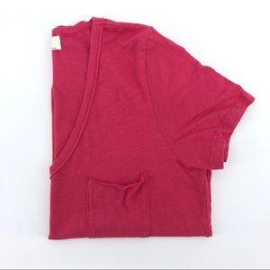Anthropologie t.la Pocket Tee Cotton Pink Shirt